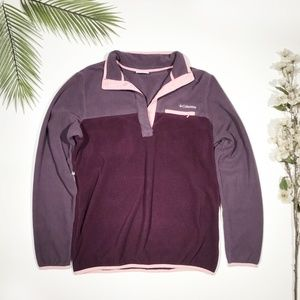 Columbia | Purple T Snap Pullover